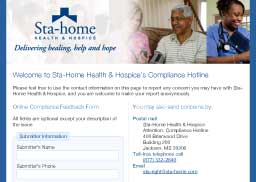 Sta-Home Health & Hospice Compliance Hotline