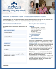 Sta-Home Health & Hospice's Compliance Hotline